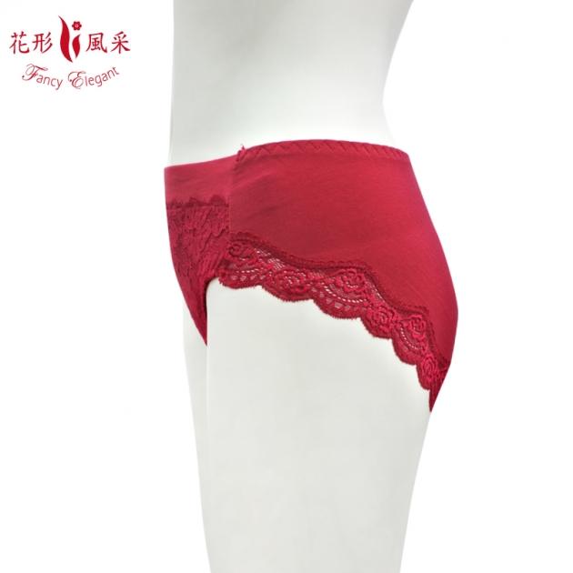 花形風采棉質蕾絲三角褲 2