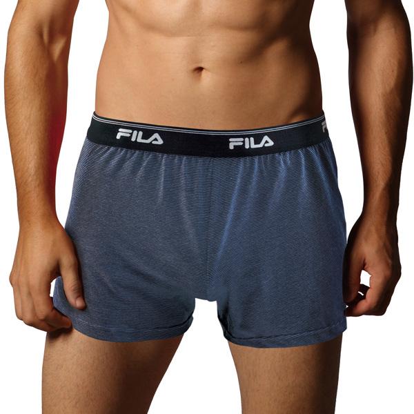 FILA男條紋吸排平口褲 1